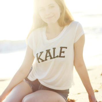 Kale Shirt Crop Top Vegan Beyonce Tumblr Hipster Brandy Melville