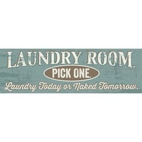 'Laundry Room' Textual Art on Wood