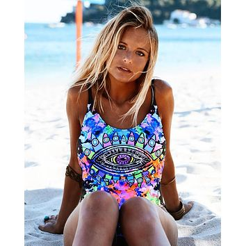 Beach New Arrival Swimsuit Hot Summer Swimwear Sexy Print Ladies Bikini [510305861686]