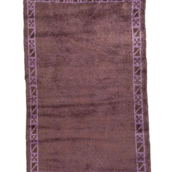 3x4 Overdyed Tribal Vintage Rug 2685