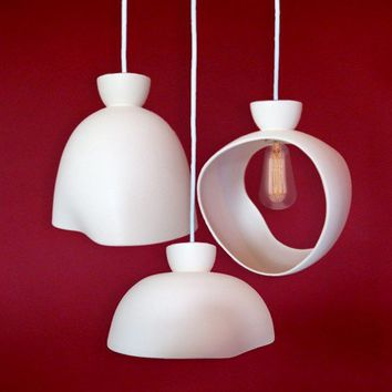 lovejoy trio pendant light fixture by fixstudio on Etsy