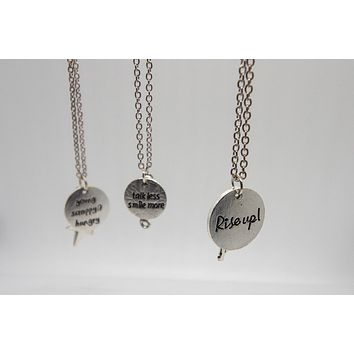Hamilton Silver Charm Chain Necklace
