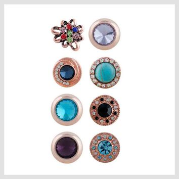 Mixed Set of 4 Rose Gold Plated Mini 12mm