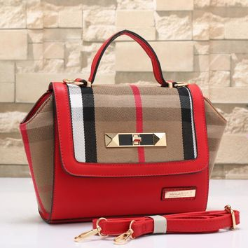 Burberry Women Fashion Leather Shoulder Bag Satchel Crossbody-2