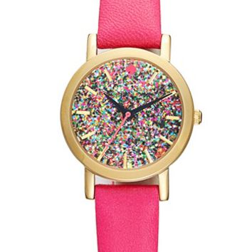 kate spade new york 'metro mini' glitter dial watch, 24mm | Nordstrom