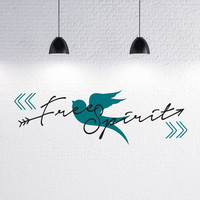 Free Spirit Bird and Arrow Design Vinyl Wall Decal - Indie / Boho Decor, Feather and Arrow, Tribal Design, Bedroom Wall Decor