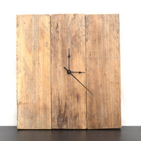 Wood clock Reclaimed wood clock rustic wood clock Starlight woods