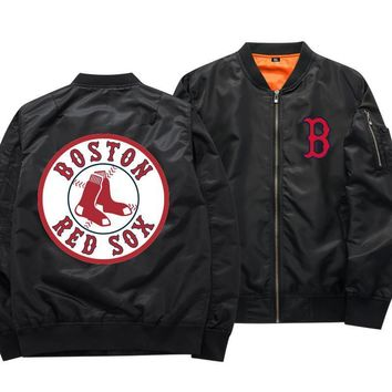 [50% OFF !!] EXCLUSIVE BOSTON RED SOX  BOMBER JACKET - FREE SHIPPING
