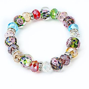 12PCS/lot Fashion Jewelry Friendship Charm Bracelets&Bangles Colorful Magic Crystal Beads Bracelets For Women Gifts Bracelets