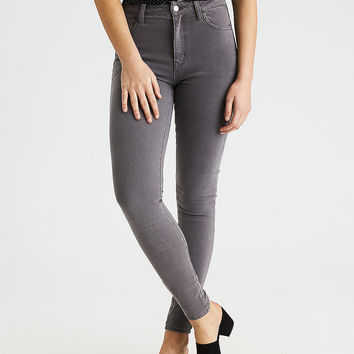 AEO Denim X4 Super Hi-Rise Jegging, Smoked Gray