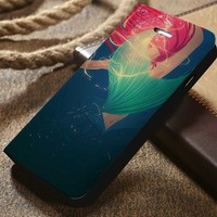 Disney Ariel The Little Mermaid Custom Wallet iPhone 4/4s 5 5s 5c 6 6plus 7 and Samsung Galaxy s3 s4 s5 s6 s7 case