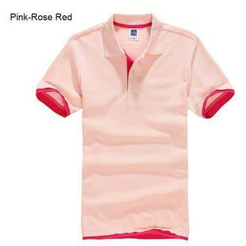 Pink with Red Men's/ Women's Polo Shirt XS-3XL
