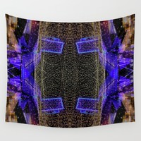 City Synthesis Wall Tapestry by RichCaspian