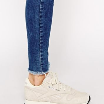 Reebok Leather Exotics Matt Silver Retro Trainers at asos.com