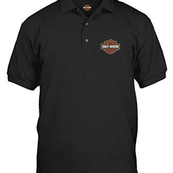 Harley-Davidson Men's T-shirt Collared Polo Shirt - Bar & Shield | Overseas Tour