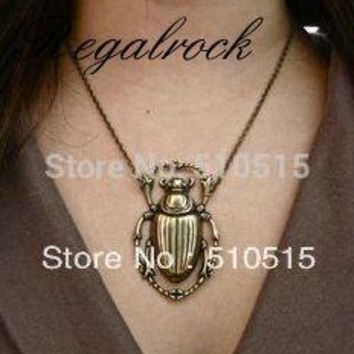 Regalrock Fashion Steampunk Beetle Scarab Pendant Necklace