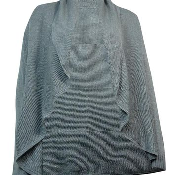 Charter Club Women's Metallic Shawl Sweater Cardigan