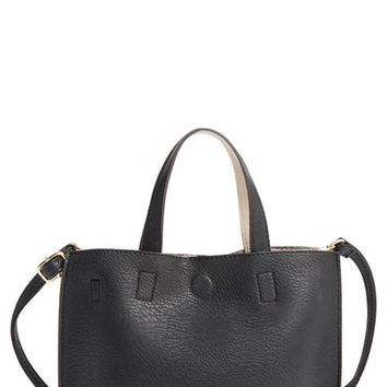 Street Level Reversible Faux Leather Crossbody Mini Tote & Wristlet | Nordstrom