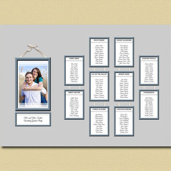 Photo Frame, Wedding Table Plan, Wedding Seating Chart, Engagement Photo,  Seating Plan