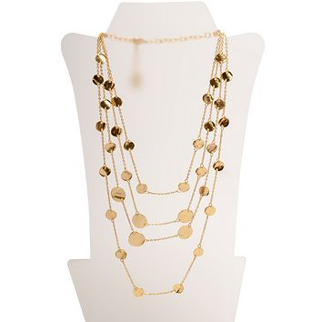 Multi Disc Long Necklace