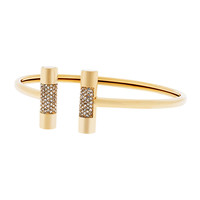 City Barrel Pave Open Cuff - Michael Kors