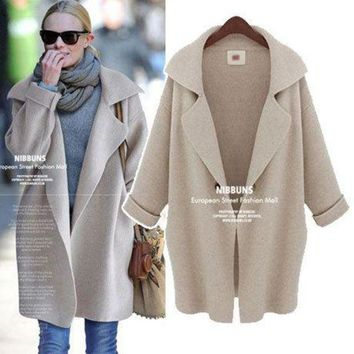 ac PEAPON Sweater Winter Blazer Knit Plus Size Women's Fashion Jacket [45261717529]