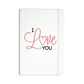 "NL Designs ""I Love You"" White Red Everything Notebook"