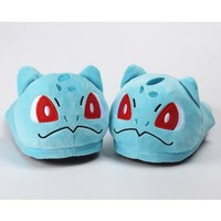 Winter Warm Plush Home Slippers for Men Women Cartoon Unicorn  Pikachu Squirtle Slippers Stuffed Indoor Couple ShoesKawaii Pokemon go  AT_89_9