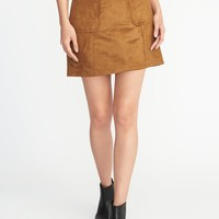 Faux-Suede Utility A-Line Mini for Women | Old Navy