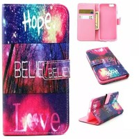 Hope Believe Love Case Cover PU Leather Wallet for iPhone & Samsung Galaxy S6  iPhone 6s Plus-170928