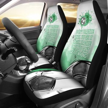 Practice Until You Can't Get It Wrong Soccer Car Seat Covers Universal Fit