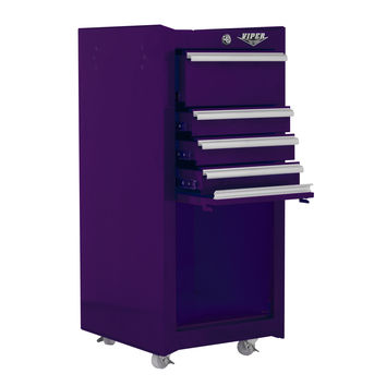 "Viper Purple 16"" 4 Drawer Tool Cart"