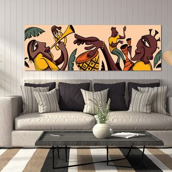 Tribal Music Art African Music Canvas Wall Art