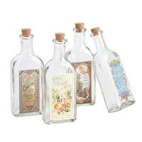 Set Of Four Bathroom Storage Bottles
