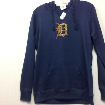 ONETOW MLB Detroit Tigers Women's Dream of Diamonds Pullover Hoodie