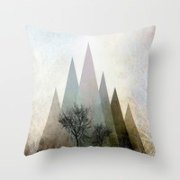 TREES IV Throw Pillow by Pia Schneider [atelier COLOUR-VISION]