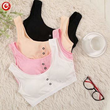 1PC Cotton Bras For Kids Teen Young Girls Training Underwear Small Wireless Thin Cup Child Girls Puberty Bra Teenages Clothes