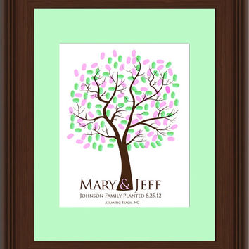 Digital THUMBPRINT TREE, printable wedding tree guest book, fingerprint guest tree file, Thumbprint Tree guest book, Wedding Poster, DIY 112