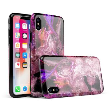 Liquid Abstract Paint V70 - iPhone X Swappable Hybrid Case