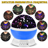 Rotating Star Moon Sky Rotation Night Projector Light Lamp Projection with high quality