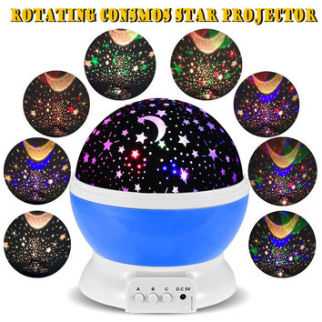 Auto Rotating Star Moon Sky Projector Light