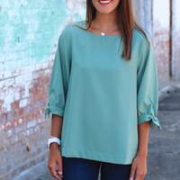 Fit to be Tied Shift Top {Sage}