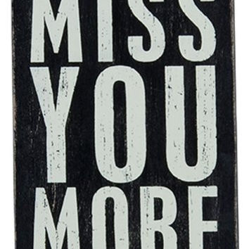 Miss You More - Wooden Greeting Card for Birthdays, Anniversaries, Weddings, and Special Occasions