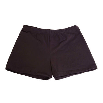 Underneath Cotton Boy Shorts Black