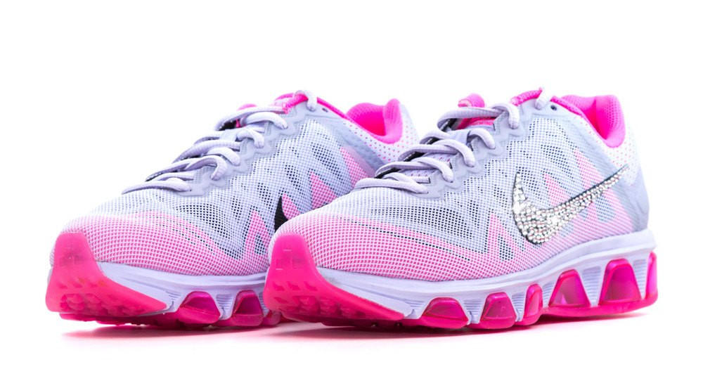 Nike Air Max Tailwind - Crystallized Swarovski Swoosh - Gray Pink be991c985