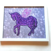 Unicorn with wings 8 x 10 Art Print For Home Decor