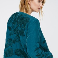 Free People Embroidered Liner Jacket