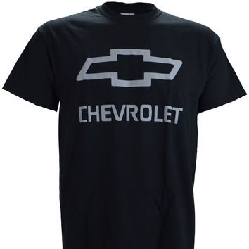 Chevy Chevrolet Logo on a Black T Shirt