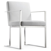 Armor Dining Chair, Gray