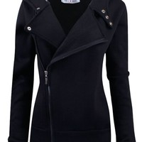Tom's Ware Women Slim fit Zip-up Hoodie Jacket